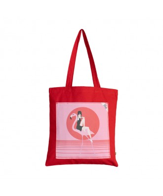 "Tote bag rouge ""Pinky"""